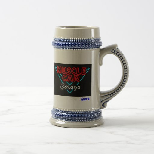 Muscle Car Garage Stein Coffee Mugs