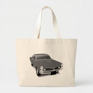Muscle car large tote bag