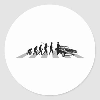 Muscle Car Lover Round Sticker