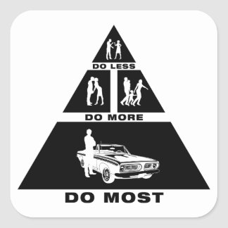Muscle Car Lover Square Sticker