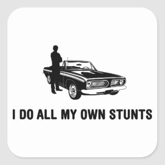 Muscle Car Lover Square Stickers