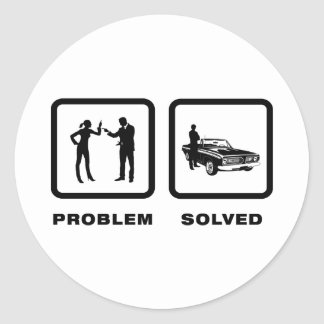 Muscle Car Lover Round Stickers