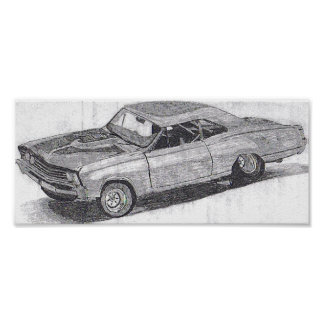 MUSCLE CAR PRINT