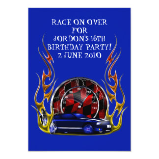 MUSCLE CAR RACING BIRTHDAY CARD