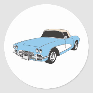 Muscle Car Round Sticker