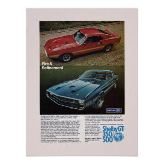 Muscle Car Shelby Ad Poster