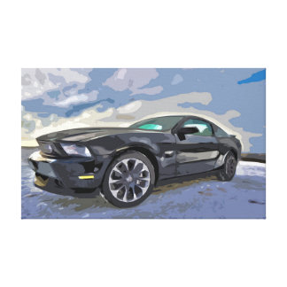 Muscle Car / Sports Car Canvas with Simple Design