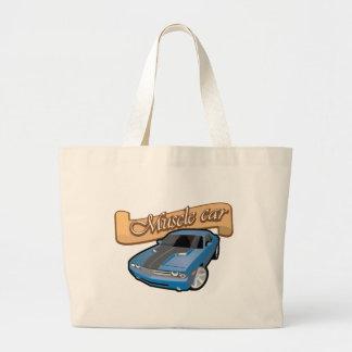 Muscle car jumbo tote bag