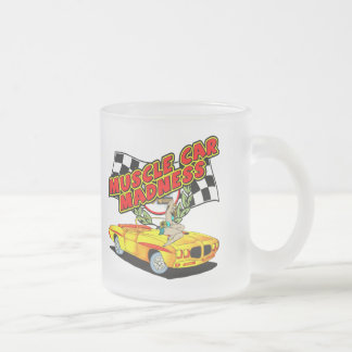 Muscle Cars Frosted Glass Mug