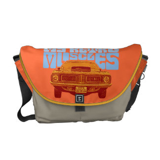 Muscle cars messenger bags