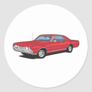 Muscle Cars Round Sticker