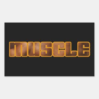 MUSCLE Gear Rectangular Sticker