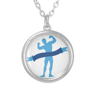 Muscle Man Round Pendant Necklace