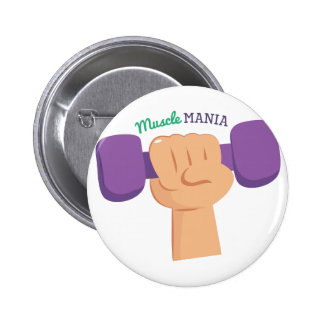Muscle Mania 6 Cm Round Badge