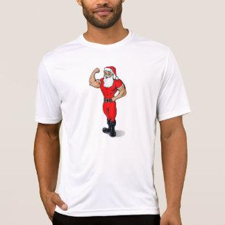 Muscle Santa plain white t-shirt