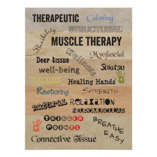 Muscle Therapy Words Poster Art