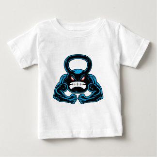 muscular angry kettlebell mascot baby T-Shirt