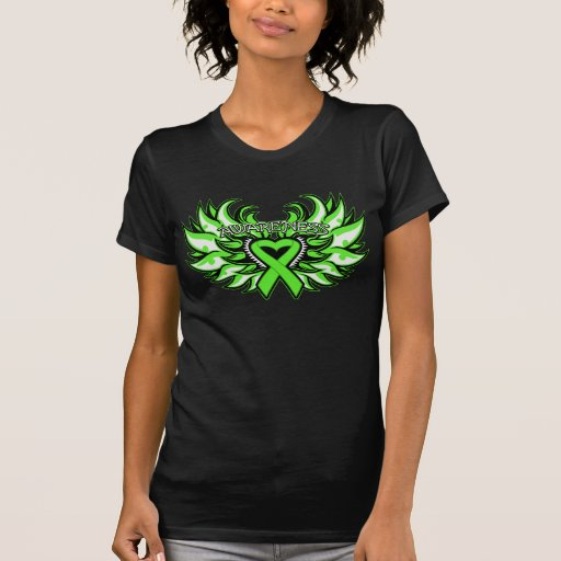 Muscular Dystrophy Awareness Heart Wings.png Tee Shirts
