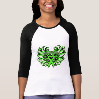 Muscular Dystrophy Awareness Heart Wings png Tee Shirts