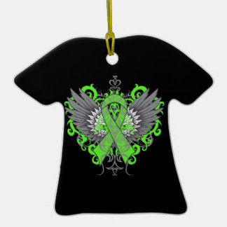 Muscular Dystrophy Awareness Wings Christmas Ornaments