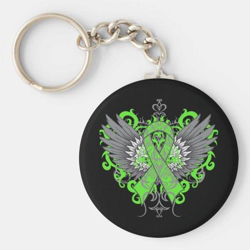 Muscular Dystrophy Awareness Wings Key Chain
