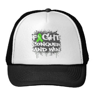 Muscular Dystrophy Fight Conquer and Win Trucker Hat
