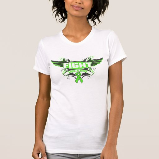 Muscular Dystrophy Fight Like a Girl Wings.png Tshirts