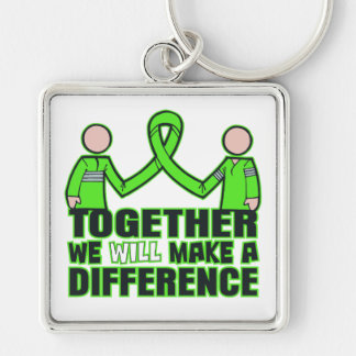 Muscular Dystrophy Together We Will Make A Differe Silver-Colored Square Key Ring