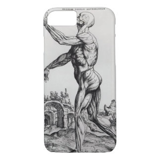 Musculature Structure of a Man (b/w neg & ) iPhone 8/7 Case