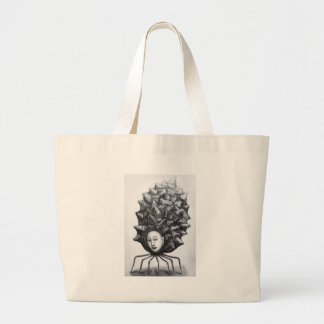 Muse in a shell (surrealism) jumbo tote bag