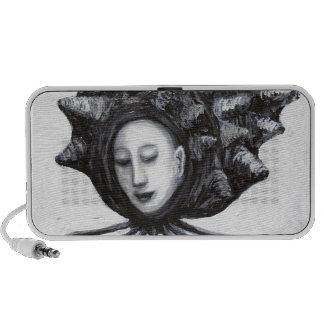 Muse in a shell (surrealism) travel speaker