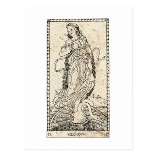 MUSE Klio Clio history history Postcard