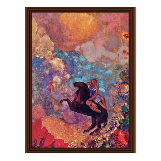 Muse On Pegasus By Redon Odilon (Best Quality)