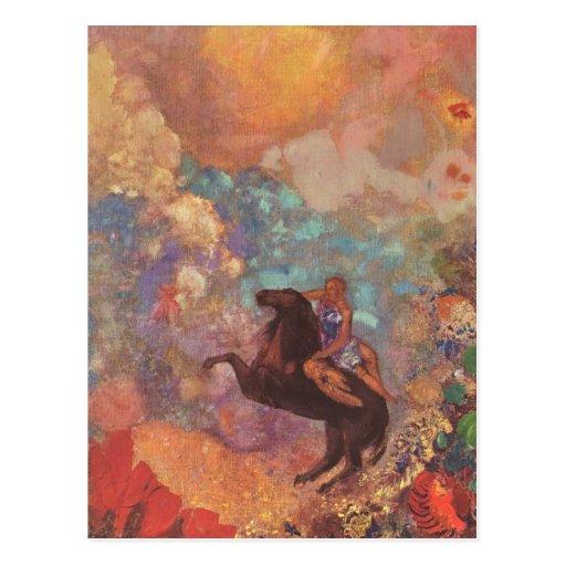 Muse On Pegasus Post Card