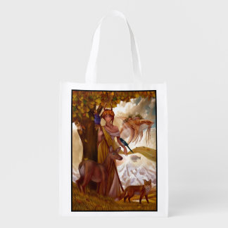 Muse Wildlife Fantasy Reusable Grocery Bag