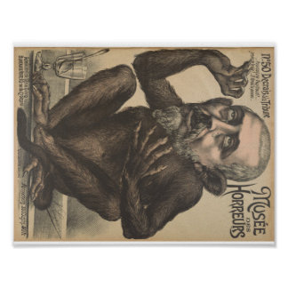 Musee Des Horreurs Creepy French Vintage Poster
