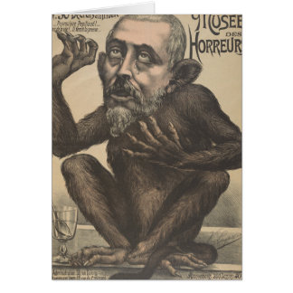 Musee Des Horreurs Creepy French Vintage Poster Greeting Card