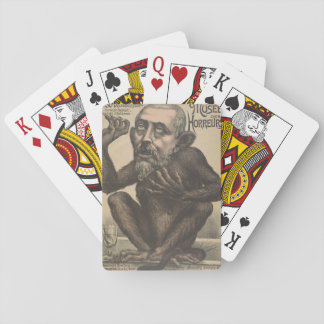 Musee Des Horreurs Creepy French Vintage Poster Playing Cards