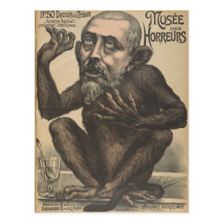 Musee Des Horreurs Creepy French Vintage Poster Postcard