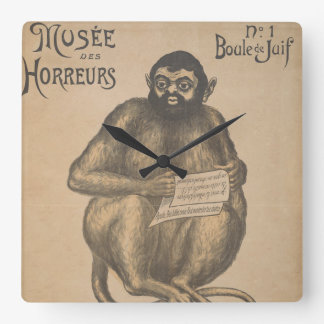 Musee Des Horreurs Creepy French Vintage Poster Wallclock