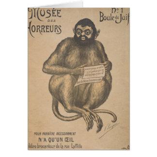 Musee Des Horreurs Rodent Man Vintage Greeting Card
