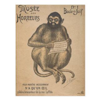 Musee Des Horreurs Rodent Man Vintage Postcard