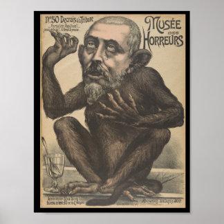Musee des Horreurs Sad Monkey Man Poster