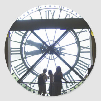 Museé d'Orsay Clock Round Sticker