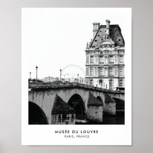 Musée du Louvre Paris   Photography poster print