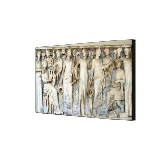 Muses and Poets Stretched Canvas Print