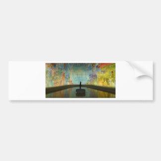 Museum Art Mural Musée D'art Modern Palais De Toky Bumper Sticker