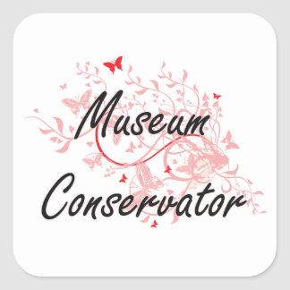Museum Conservator Artistic Job Design with Butter Square Sticker