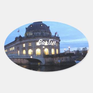 Museum Island Berlin Oval Stickers