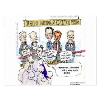 Museum Of Ex Political Parties Funny Gifts & Tees Postcard